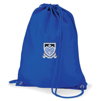 Monifieth High School School Bag Royal Blue with Badge